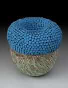 Bowl with Blue Texture